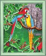 Схема для вышивки бисером на атласе Самоцветы джунглей