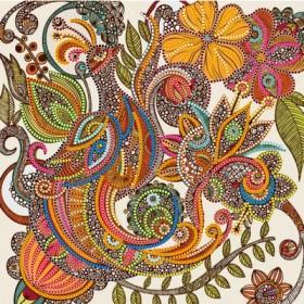 Схема для вышивки бисером на холсте Сказочная птица