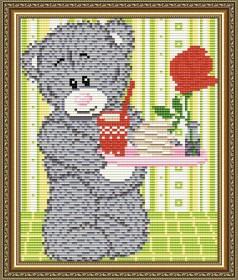 Набор для выкладки алмазной мозаикой Мишка с подносом Art Solo АТ5531 - 248.00грн.