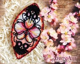 Набор для вышивки бисером украшения на натуральном художественном холсте Игривые завитки Абрис Арт AD-012 - 115.00грн.