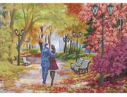 Схема для вышивки бисером Осенняя романтика