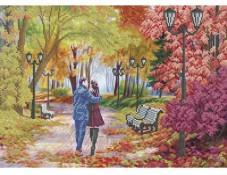 Схема для вышивки бисером Осенняя романтика Акорнс А3-К-842