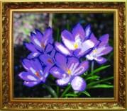 Схемы для вышивания бисером на авторской канве Весенние цветы