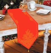 Схема вышивки бисером на габардине Скатерть рождественская сказка