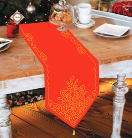 Схема вышивки бисером на габардине Скатерть рождественская сказка Миледи СЮ-004 - 297.00грн.