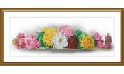 Набор для вышивки нитками на канве с фоновым изображением Запах осени