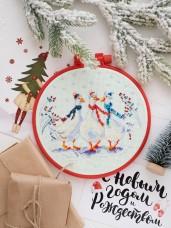 Набор для вышивки крестом Три веселых гуся Абрис Арт АНМ-016