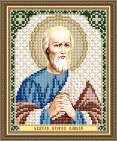 Схемы вышивки бисером на авторской канве Святой Пророк Елисей