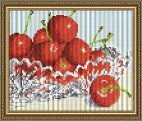 Набор для выкладки алмазной техникой В хрустале. Черешня, , 280.00грн., АТ5542, Art Solo, Алмазная мозаика