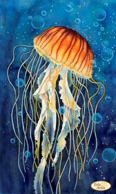 Схема вышивки бисером на атласе Медуза в пузырьках