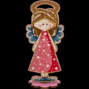 Набор для вышивки бисером по дереву Ангел Девочка
