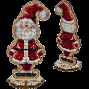 Набор для вышивки  бисером по дереву Санта