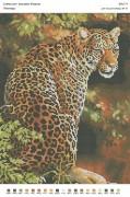 Рисунок на габардине для вышивки бисером Леопард