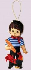 Набор для изготовления куклы из фетра для вышивки бисером Кукла. Франция-М Баттерфляй (Butterfly) F 068