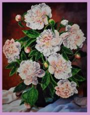 Набор для вышивки бисером Букет пионов Картины бисером Р-103