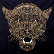 Набор для вышивки бисером на габардине Улыбка пантеры