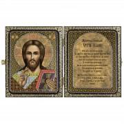 Набор для вышивки иконы в рамке-складне Христос Спаситель