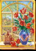 Набор для вышивки бисером За окном весна 2