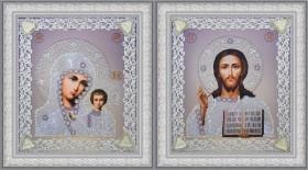 Набор для вышивки бисером Набор венчальных икон (серебро) Картины бисером Р-366 - 383.00грн.