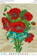 Рисунок на габардине для вышивки бисером Маковий цвіт