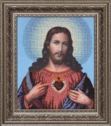 Схема вышивки бисером на ткани Иисус