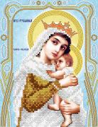Схема для вышивки бисером на атласе Богородица Отчаянных единая надежда