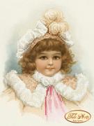 Схема вышивки бисером на атласе  Серьезная Маргарет