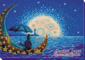 Набор для вышивки бисером на холсте Лунная Соната, , 520.00грн., АВ-623, Абрис Арт, Пейзажи