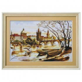Набор для вышивки крестом Прага Карлов мост, , 254.00грн., СР2225-У, Новая Слобода (Нова слобода), Вышивка на дизайнерской канве