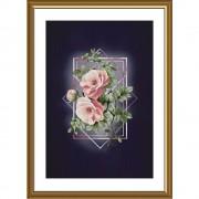 Набор для вышивки крестиком на фоновой канве Ода роз