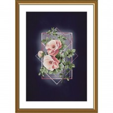 Набор для вышивки крестиком на фоновой канве Ода роз Новая Слобода (Нова слобода) АС5001