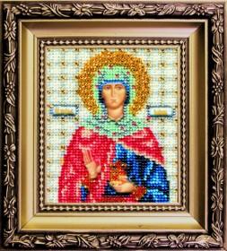 Набор для вышивки бисером Икона святая праведная Иоанна (Жанна, Яна), , 169.00грн., Б-1122, Чарiвна мить (Чаривна мить), Именные иконы