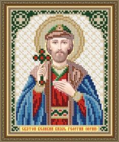 Схема вышивки бисером на авторской канве Святой Великий Князь Георгий (Юрий)