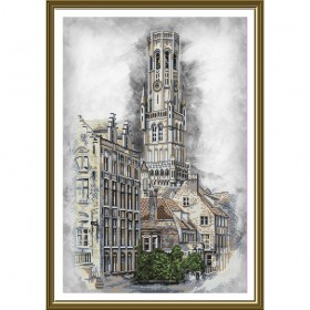 Набор для вышивки нитками на канве Бельгия. Брюгге