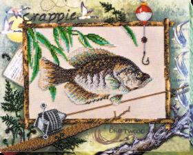 Набор для вышивки бисером на холсте Удачная рыбалка