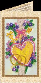 Набор - открытка для вышивки бисером С Днём Бракосочетания 4 Абрис Арт АО-112 - 68.00грн.