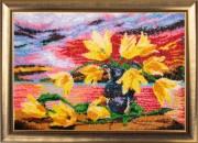 Схема для вышивки бисером на атласе Желтые тюльпаны