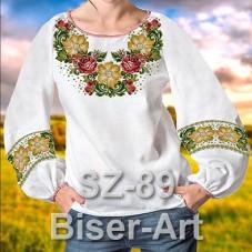 Заготовка для вышивки бисером Сорочка женская Biser-Art Сорочка жіноча SZ-89 (льон)