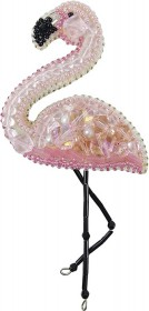 Набор для изготовления броши Фламинго