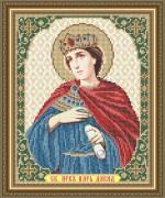 Схема  вышивки бисером на габардине Святой Пророк Царь Давид