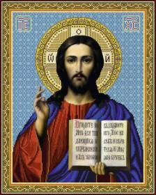 Схема вишивкі бісером на габардині Ісус Христос Акорнс А2-И-005 - 144.00грн.
