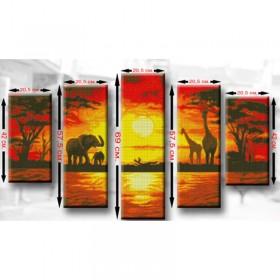Схемы для вышивки бисером Полиптих Африка2 Biser-Art ТМ7 - 220.00грн.