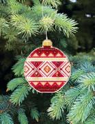 Набор для вышивки нитками Новогодняя игрушка Елочный шар