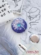 Набор для вышивки бисером украшения Одуванчик