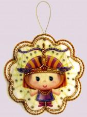 Набор для изготовления игрушки из фетра для вышивки бисером Весы