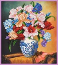 Набор для вышивки бисером Букет ирисов Картины бисером Р-396