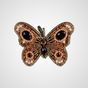 Набор для вышивки подвеса Золотая бобочка