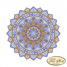Схема вышивки бисером на габардине Мандала Кобальт Tela Artis (Тэла Артис) МА-007(1) ТА