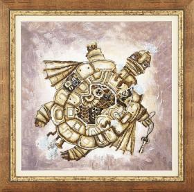 Набор для вышивки крестом Золотая черепаха, , 391.00грн., РК-135, Чарiвна мить (Чаривна мить), Животные