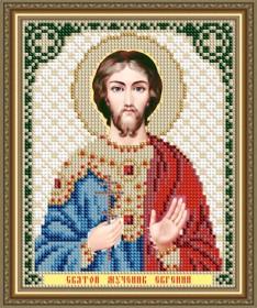 Схема вышивки бисером на авторской канве Святой Мученик Евгений